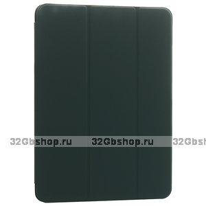 Темно-зеленый чехол-книжка для iPad Air 4 2020 - Baseus Simplism Magnetic Leather Case Green