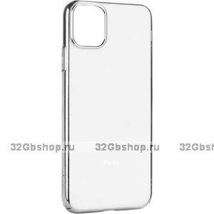 """Силиконовый чехол с серебристым бампером для iPhone 12 Pro Max (6.7"""")"""