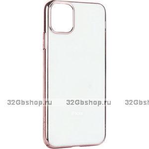"""Силиконовый чехол с бампером розовое золото для iPhone 12 Pro Max (6.7"""")"""