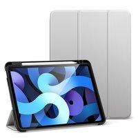 Белый чехол книжка для iPad Air 4 2020 с держателем Apple Pencil