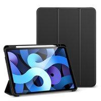 Черный чехол книжка для iPad Air 4 2020 с держателем Apple Pencil