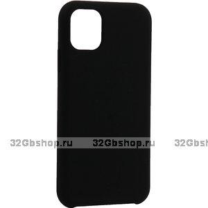 """Черный силиконовый чехол накладка TOTU Outstanding Series Silicone Case Black для iPhone 12 mini (5.4"""")"""