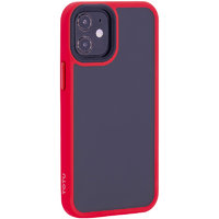 """Красный пластиковый чехол для iPhone 12 mini (5.4"""") с силиконовыми бортами - TOTU Gingle Series Red"""