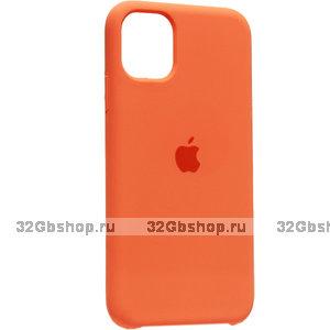"""Оранжевый силиконовый чехол накладка для Apple iPhone 12 mini (5.4"""") - Silicone Case Kumquat"""