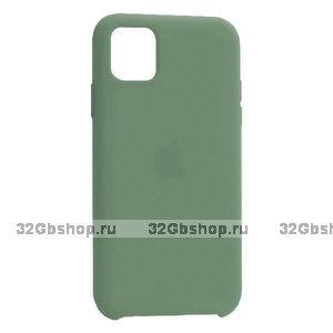 """Зеленый силиконовый чехол накладка для Apple iPhone 12 mini (5.4"""") - Silicone Case Green"""