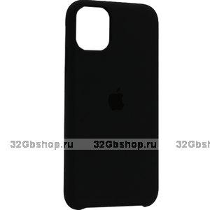 """Черный силиконовый чехол накладка для Apple iPhone 12 mini (5.4"""") - Silicone Case Black"""