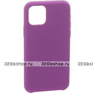 """Фиолетовый силиконовый чехол накладка для Apple iPhone 12 mini (5.4"""") - Art Case Silicone Case Purple"""