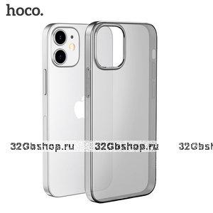 """Прозрачный серый силиконовый чехол Hoco Light Series Grey для iPhone 12 mini (5.4"""")"""