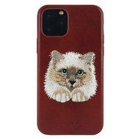 Красный кожаный чехол для iPhone 12 Pro Max волк - Santa Barbara Polo&Racquet Club Savanna Series Cat
