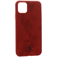 Красный кожаный чехол для iPhone 12 Pro Max - Santa Barbara Polo&Racquet Club Knight Series Red