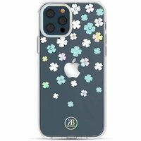 Прозрачный пластиковый чехол KINGXBAR со стразами Swarovski для iPhone 12 Pro Max цветы