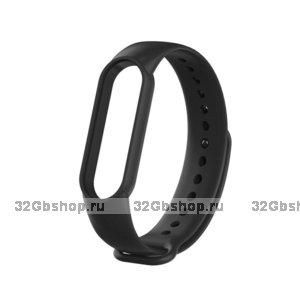 Черный силиконовый ремешок для Xiaomi Mi Band 5