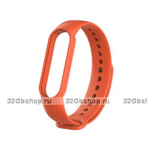 Оранжевый силиконовый ремешок для Xiaomi Mi Band 5