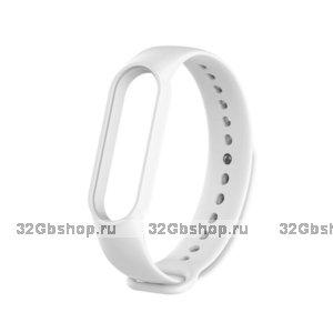 Белый силиконовый ремешок для Xiaomi Mi Band 5