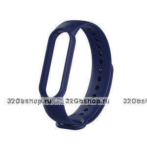 Темно-синий силиконовый ремешок для Xiaomi Mi Band 5