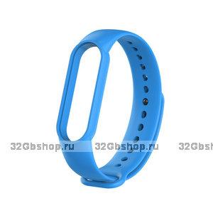 Голубой силиконовый ремешок для Xiaomi Mi Band 5