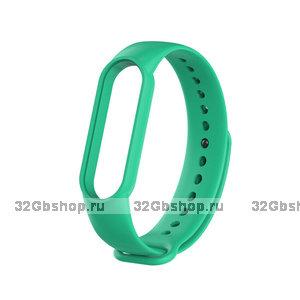 Зеленый силиконовый ремешок для Xiaomi Mi Band 5