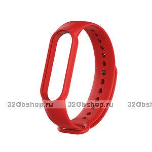 Темно-красный силиконовый ремешок для Xiaomi Mi Band 5