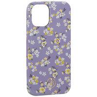 "Фиолетовый пластиковый чехол со стразами для iPhone 12 mini (5.4"") цветы - KINGXBAR Swarovski Flowers Series Purple"