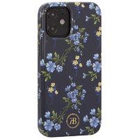 """Черный пластиковый чехол со стразами для iPhone 12 mini (5.4"""") цветы - KINGXBAR Swarovski Flowers Series Black"""
