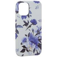 """Белый пластиковый чехол со стразами для iPhone 12 mini (5.4"""") цветы - KINGXBAR Swarovski Flowers Series White"""