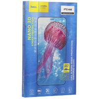 """Защитное стекло с узкими силиконовыми рамками для iPhone 12 mini (5.4"""") - Hoco Nano 3D A12 Black"""