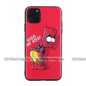 """Красный силиконовый чехол Симпсон для iPhone 12 mini (5.4"""")"""