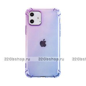 """Прозрачный силиконовый чехол фиолетовый градиент для iPhone 12 mini (5.4"""")"""