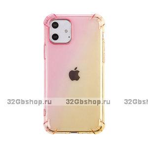 """Прозрачный силиконовый чехол оранжевый градиент для iPhone 12 mini (5.4"""")"""
