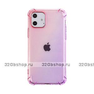 """Прозрачный силиконовый чехол розовый градиент для iPhone 12 mini (5.4"""")"""