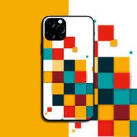 """Силиконовый чехол цветные квадраты для iPhone 12 mini (5.4"""")"""