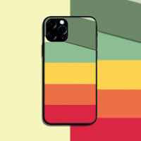 """Силиконовый чехол цветные полосы для iPhone 12 mini (5.4"""")"""