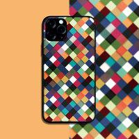 """Силиконовый чехол цветные ромбы для iPhone 12 mini (5.4"""")"""