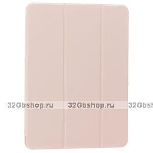 """Розовый песок чехол книжка для iPad Pro 11"""" 2021 - Baseus Simplism Magnetic Leather Case Pink"""