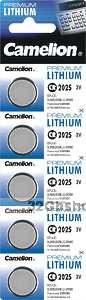 Элемент питания Camelion CR2025 (батарейка литиевая 3V)