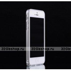 Металлический бампер Fashion Silver Bumper для iPhone 5 / 5s / SE серебро