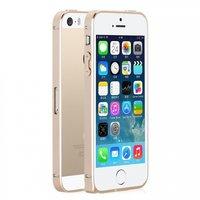 Металлический бампер Fashion Gold Bumper для iPhone 5s / SE / 5  золотой