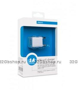 Сетевое зарядное устройство для Samsung Galaxy S4 - Deppa Ultra USB 1А - сетевой блок питания