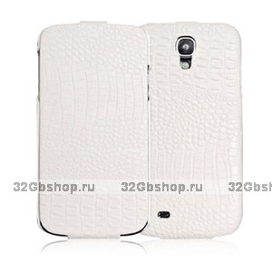 Кожаный чехол для Samsung S4 - BOROFONE Crocodile leather case for Samsung Galaxy S4 - White