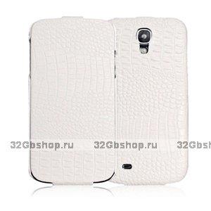 Кожаный чехол для Samsung S4 - BOROFONE Crocodile leather case for Samsung Galaxy S4 - White