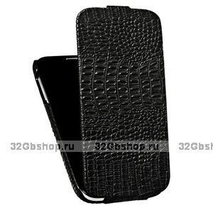Кожаный чехол для Samsung S4 - BOROFONE Crocodile leather case for Samsung Galaxy S4 - Black
