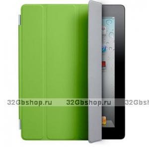Сумка футляр для iPad 2Smart Cover зелёная