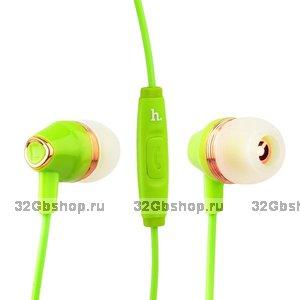 Наушники Hoco M4 Colorful Universal Earphone (1.2 м) с микрофоном Green