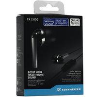 Наушники проводные Sennheiser CX 2.00G шумоизолирующие с микрофоном Черный