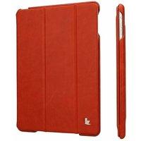 Чехол из натуральной кожи для iPad Air 5 - Jisoncase PREMIUM Red - красный