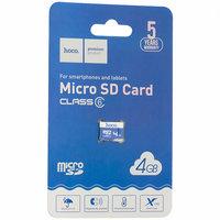 Карта памяти Transcend microSDHC 4GB Class 10 + адаптер