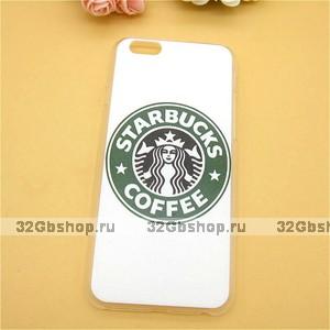 Чехол накладка для iPhone 5s / SE / 5 Starbucks coffee