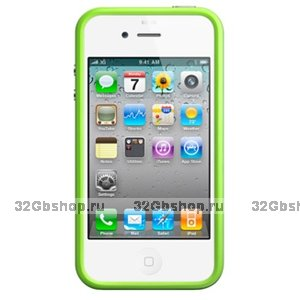 Бампер Vser для iPhone 4/4S зелёный