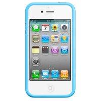Бампер Vser для iPhone 4/4S голубой