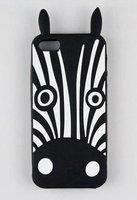 Силиконовый чехол накладка Marc by Marc Black Zebra для iPhone 5s / SE / 5 зебра